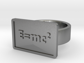 The Equivalence of Mass/Energy Ring in Natural Silver: 8 / 56.75
