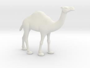 Printle Thing Dromedary - 1/32 in White Natural Versatile Plastic