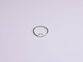 BETTER HALF Ring(HEXAGON), US size 12.5, d=22mm  in Polished Silver: 12.5 / 67.75