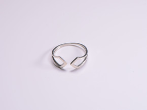 HIDDEN HEART Smooth, ring US size 10.5 , d=20,2mm in Polished Silver: 10.5 / 62.75