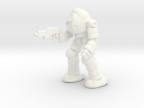 Ogre Battlesuit (Pose3) in White Processed Versatile Plastic