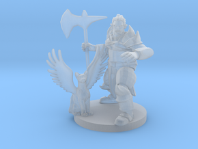 Half Orc Druid Knight with Flying Kitty in Frosted Ultra Detail