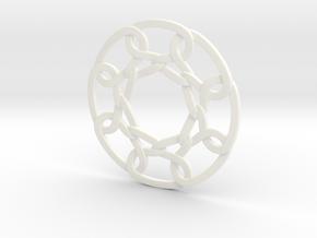 Celtic Woven Circular Chain in White Processed Versatile Plastic