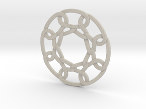 Celtic Woven Circular Chain in Natural Sandstone
