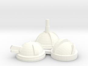 Blister Turrets in White Processed Versatile Plastic