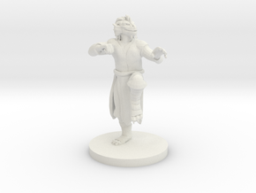 Dragonborn Male Monk in White Natural Versatile Plastic
