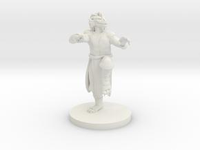 Dragonborn Male Monk in White Premium Versatile Plastic