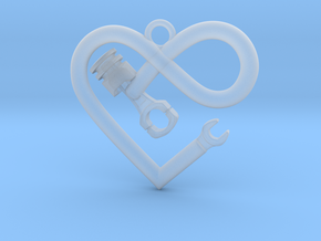 PISTON LOVE INFINITY in Smooth Fine Detail Plastic