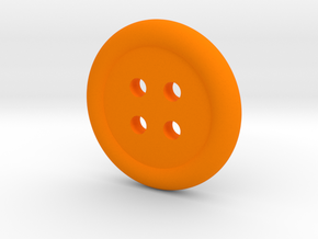 Donut Button in Orange Processed Versatile Plastic