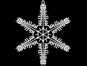 William snowflake ornament in White Natural Versatile Plastic