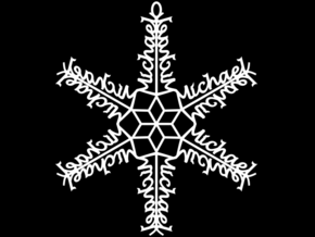 Michael snowflake ornament in White Strong & Flexible