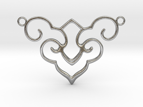 Wishful Cloud Symbol Necklace  in Natural Silver