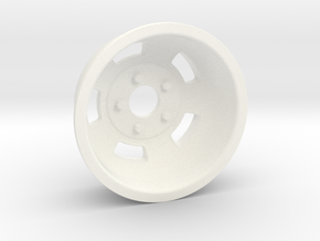 1:8 Rear American Standard Racing Wheel  in White Processed Versatile Plastic