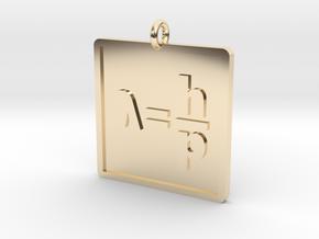 de Broglie Wavelength Pendant in 14k Gold Plated Brass