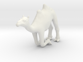 PrCrintle Thing Camel Kneeling - 1/72 in White Strong & Flexible