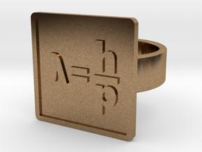 de Broglie Wavelength Ring in Natural Brass: 8 / 56.75