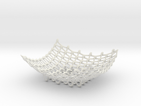 Trinity Bowl in White Natural Versatile Plastic