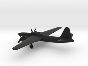 Martin XB-27 in Black Natural Versatile Plastic: 6mm