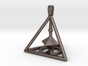 Harry Potter Deathly Hallows 3D Edition in Polished Bronzed Silver Steel