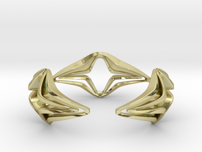 Youniq Edge Bracelet  in 18k Gold Plated: Medium