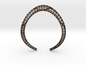 D-Strutura Choker, Medium Size. Strong, Bold, Exce in Polished Bronze Steel