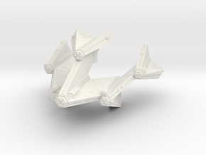 3788 Scale Tholian Battleship (BB) SRZ in White Natural Versatile Plastic