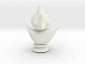 chess bird in White Natural Versatile Plastic
