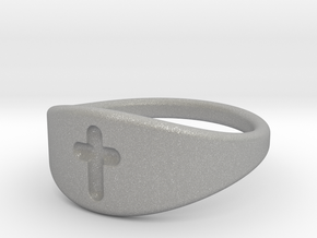 Cross ring A (US sizes 5.75 – 9.75) in Aluminum: 5.75 / 50.875