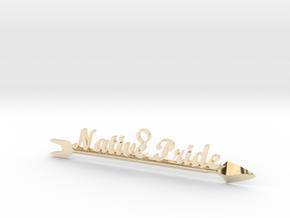 Native Pride Arrow 4 Inch Pendant in 14K Yellow Gold