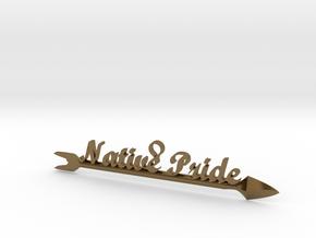 Native Pride Arrow 4 Inch Pendant in Polished Bronze