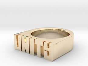 16.5mm Replica Rick James 'Unity' Ring in 14k Gold Plated Brass