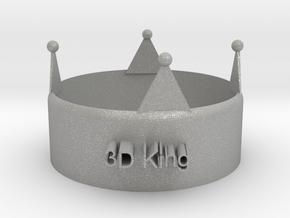 3D King Crown in Aluminum
