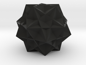 Five cubes inside a dodecahedron in Black Premium Strong & Flexible