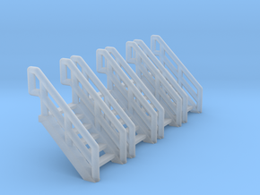 Z Scale Industrial Stairs 6 (4pc) in Frosted Ultra Detail
