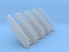 Z Scale Industrial Stairs 8 (4pc) in Frosted Ultra Detail