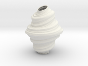 Vase TrCrN in White Natural Versatile Plastic