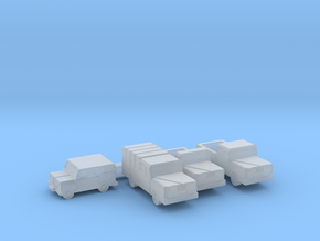 Small Trucks and Jeep  in Smooth Fine Detail Plastic