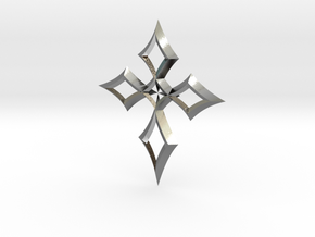 cross 04 in Polished Silver