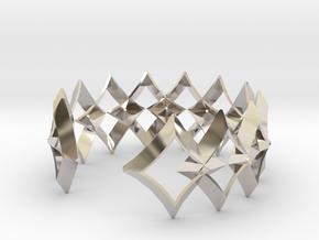 bracelet 01 open silver in Rhodium Plated Brass