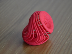 Dequan Li attractor 50mm in Red Processed Versatile Plastic