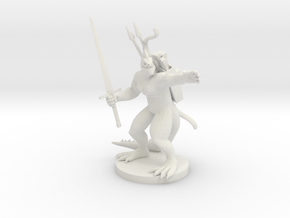 Lizardfolk Fighter in White Natural Versatile Plastic