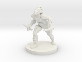 Dragonborn Rogue in White Strong & Flexible