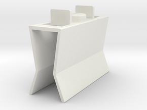 HIC Clip 2 in White Natural Versatile Plastic