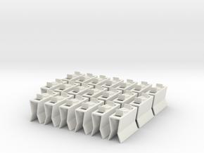 HIC Clips x20 V1 in White Natural Versatile Plastic