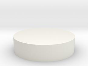 HIC Disc in White Natural Versatile Plastic