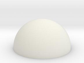 HIC Dome in White Natural Versatile Plastic