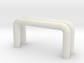 HIC Handle x2 in White Natural Versatile Plastic