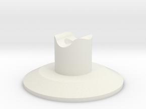 HIC Round Tall in White Natural Versatile Plastic