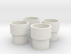 HIC Tubes x4 in White Natural Versatile Plastic