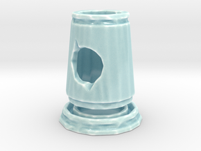 Small Candle Holder in Gloss Celadon Green Porcelain